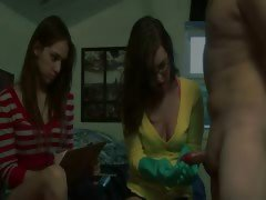 Teen girls playing with...